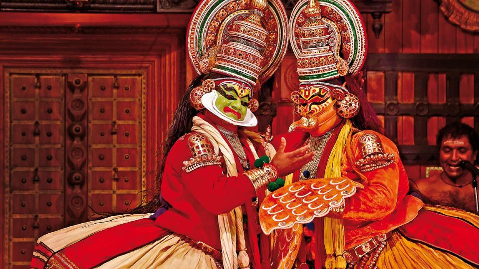 Every evening, many places in Kochi stage Kathakali shows in theatres