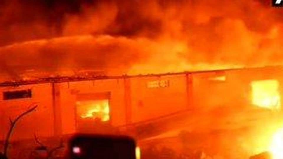 To a large extent the fire at oil warehouse in Chennai's Madhavaram area has been put out, a senior fire official said.