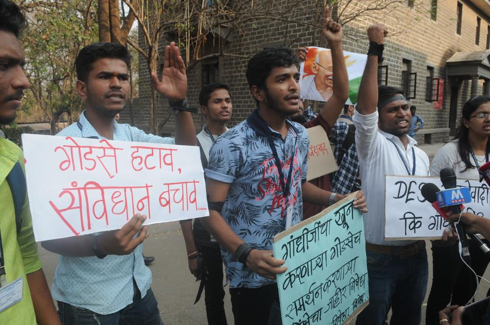 The programme which witnessed demonstration from students in the beginning went on smoothly after police were called in
