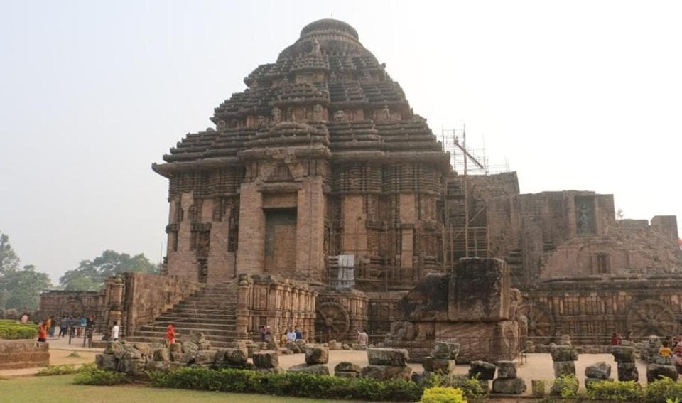 The 800-year-old Sun Temple in Konark built by Ganga dynasty king Langula Narasingha Dev to worship the Sun God has already lost its main temple and Natya Mandap and only the Jagamohan (porch) remains.