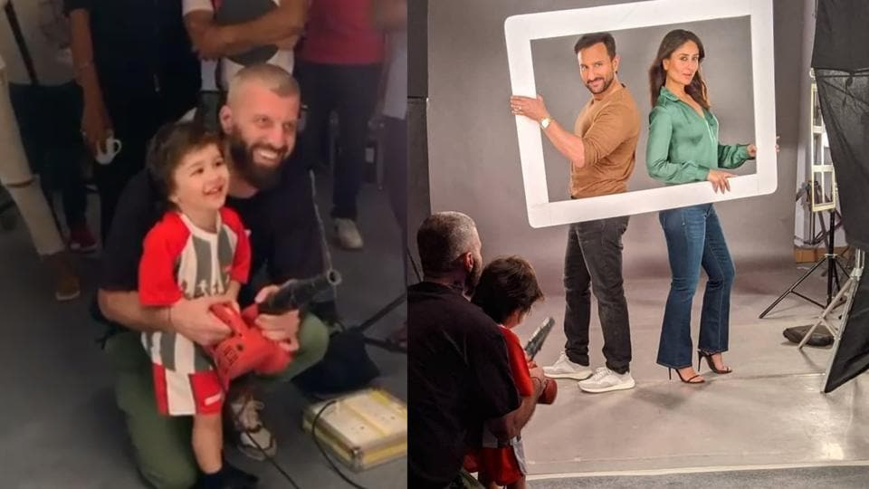 Kareena Kapoor-Saif Ali Khan shoot for an ad with Taimur in tow, Deepika Padukone reacts 'steal him', see pics