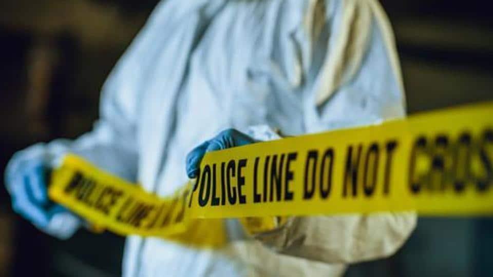 Police line tape. Crime scene investigation. Forensic science.