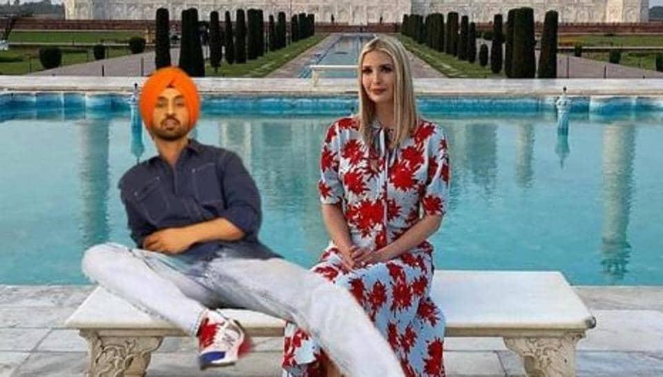 Diljit Dosanjh and Ivanka Trump at the Taj Mahal. Or are they?