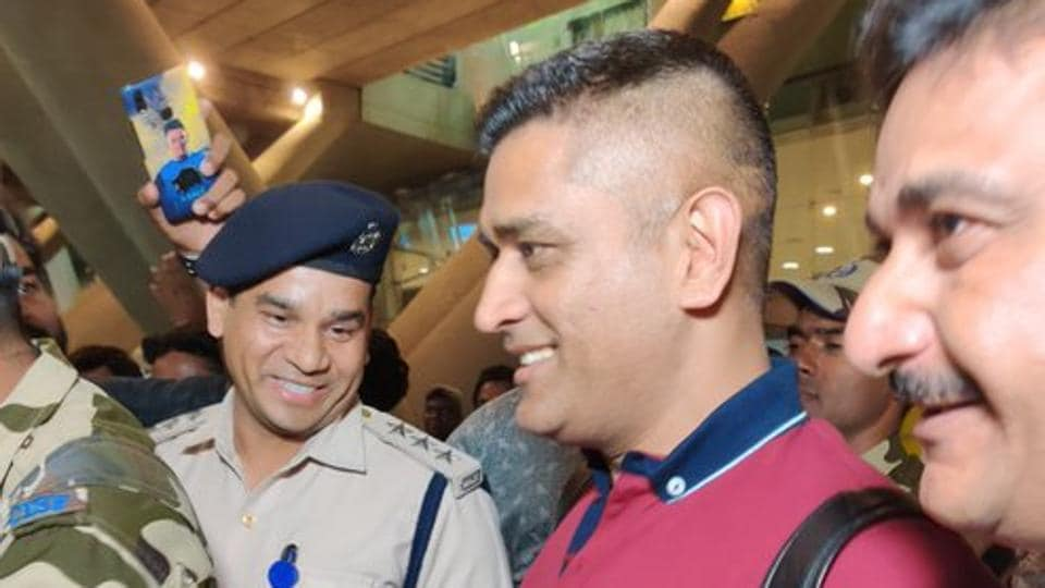 MS Dhoni arrives in Chennai.