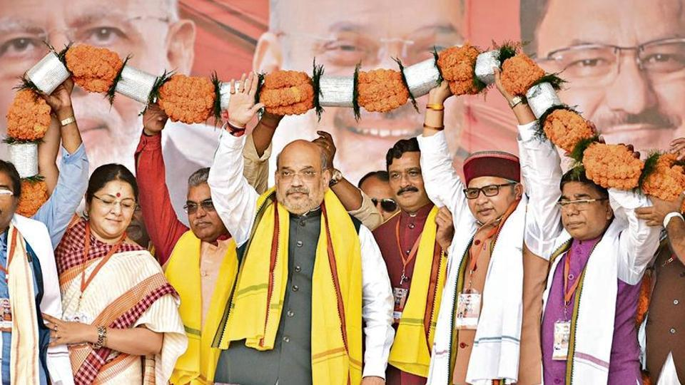 At the Shahid Minar rally in the heart of the city, Shah launched a scathing attack on chief minister Mamata Banerjee and her party, giving a call to oust the Trinamool Congress (TMC).