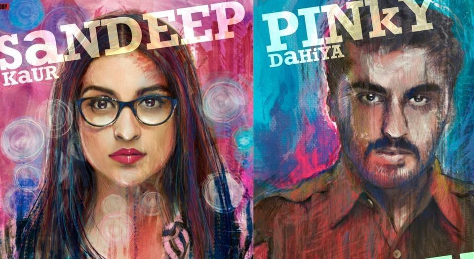 Sandeep Aur Pinky Faraar posters have Parineeti Chopra as Sandeep Kaur and Arjun Kapoor as Pinky Dahiya.
