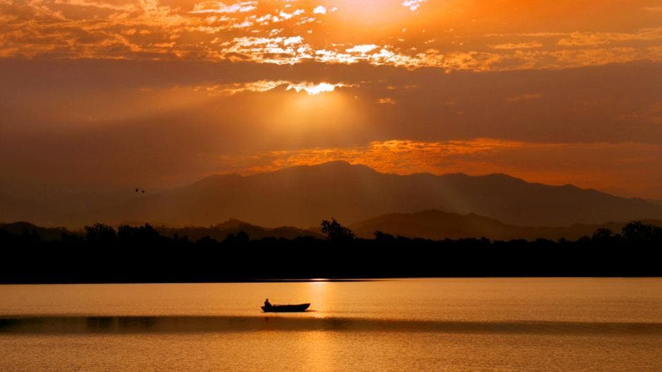 Sukhna Lake lake was created by Le Corbusier in 1958. By 1988, 66% of the original water holding capacity of the lake was lost due to silting.