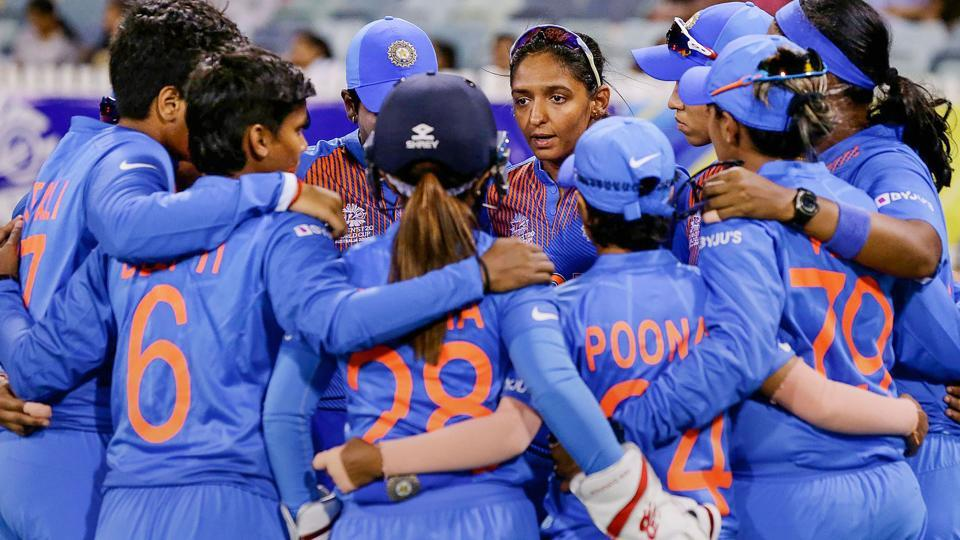 In this photo sourced from ICC, Indian Women's cricket team captain Harmanpreet Kaur.