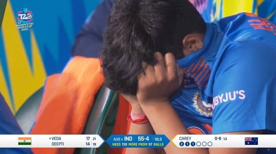 Shafali Verma in tears.