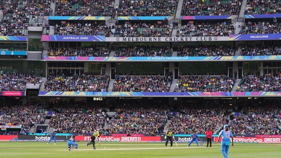 A general view is seen during the Women's T20 World Cup final cricket match between Australia and India at the MCG in Melbourne, Australia.