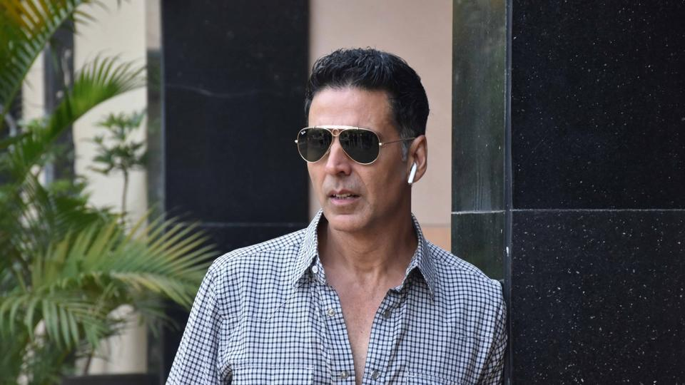Akshay Kumar during the promotions of his newly released film Good Newwz.