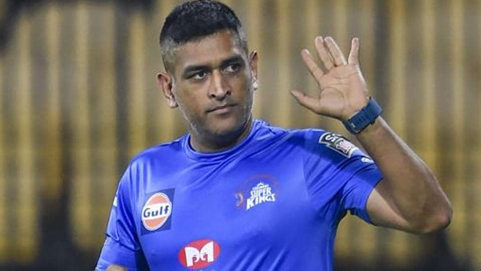 CSK Skipper MS Dhoni during the practice session of the upcoming IPL 2020 at MAC Stadium, in Chennai.
