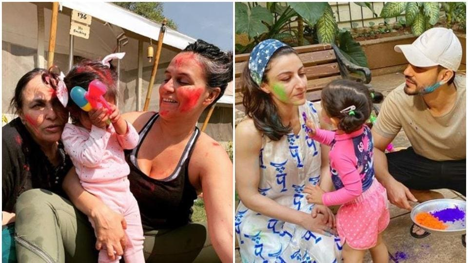 Holi 2020: Neha Dhupia and Soha Ali Khan among others shared pictures of their celebrations.