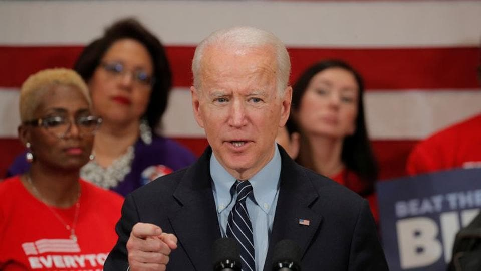 Democratic U.S. presidential candidate and former Vice President Joe Biden speaks during a campaign stop on gun violence in Columbus, Ohio, U.S., March 10, 2020.