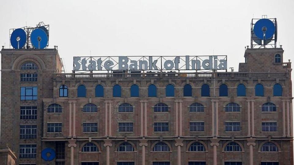 The State Bank of India (SBI) office building is pictured in Kolkata