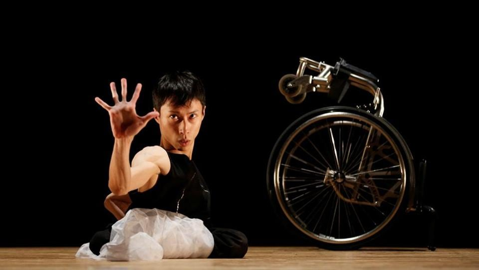 Kenta Kambara, 34, performs onstage during a dance event in Tokyo. Whirling, spinning, reaching, grasping - Japanese wheelchair dancer Kenta Kambara's emotive performances are wordless testimony to artistic passion and possibility. Born with spina bifida, a disorder that paralysed his lower body, Kambara aims to perform at the Tokyo 2020 Paralympics opening or closing ceremonies, seeking to send a message to disabled and able-bodied people alike: it's okay to be different. (Kim Kyung-Hoon / REUTERS)