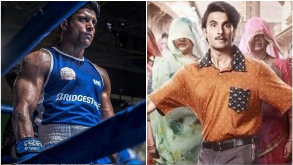 Farhan Akhtar plays a boxer in Toofaan while Ranveer Singh plays a Gujarati businessman in Jayeshbhai Jordaar.