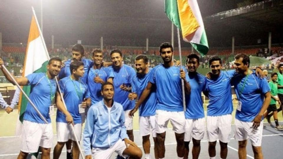 File photo of Indian Davis Cup team.