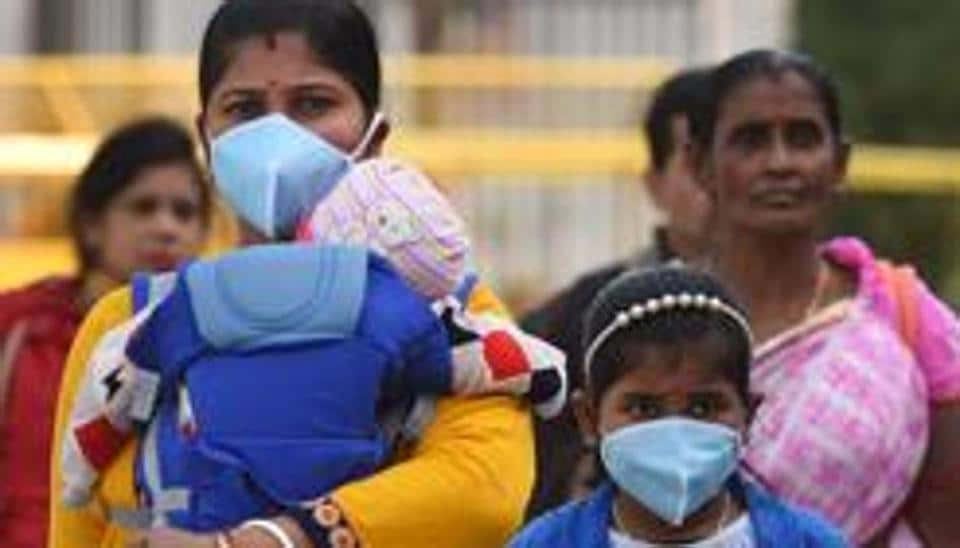 People seen wearing protective face masks as a precautionary measure against Coronavirus