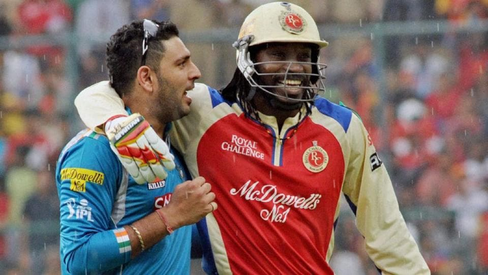Yuvraj Singh and Chris Gayle.