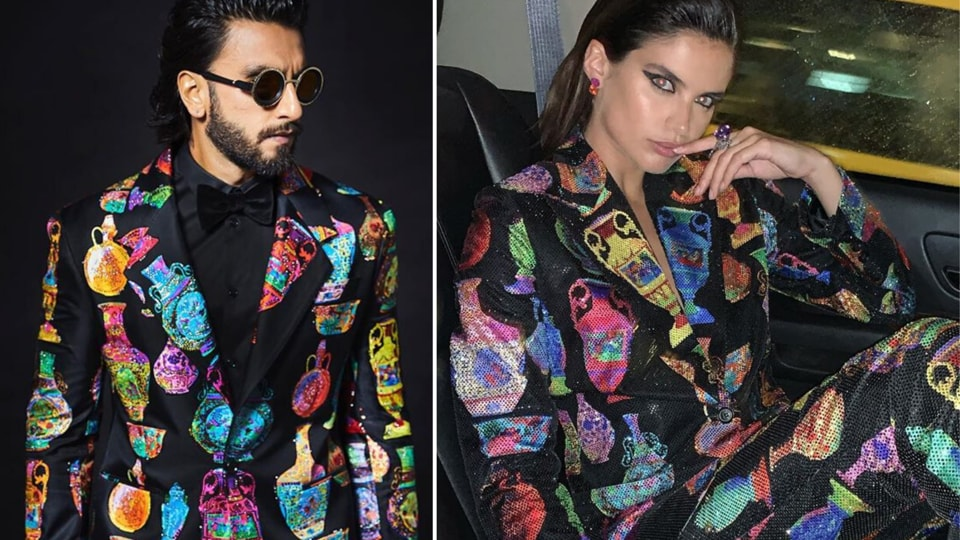 Funnily enough, this isn't the first time Ranveer has worn something that has been spotted on a female celebrity too. Previously Ranveer has also been seen in a Sabyasachi ensemble that was later also seen on Rani Mukherji and also a neon green Dior pantsuit just a while after Bella Hadid sported it.