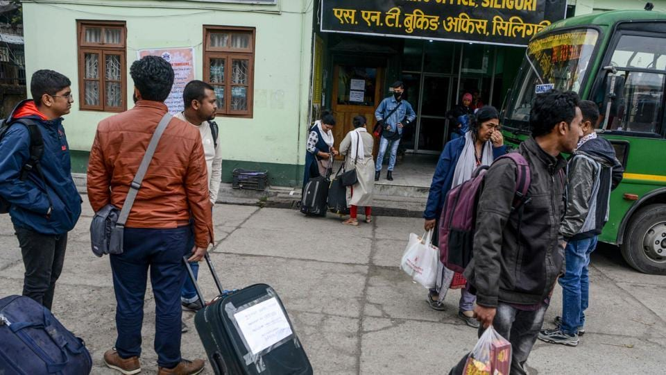 Tourists in Sikkim have ben asked to leave the state immediately.