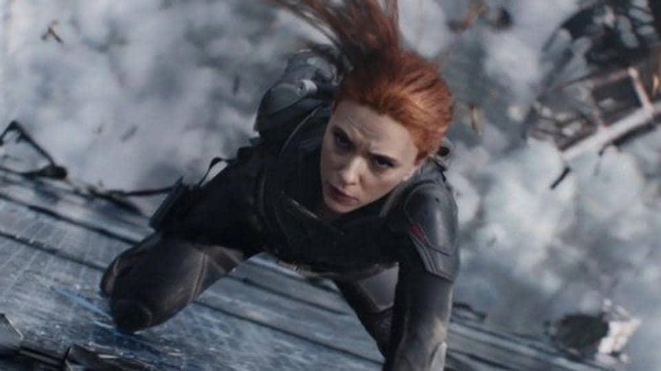 Scarlett Johansson in a still from Marvel's Black Widow.