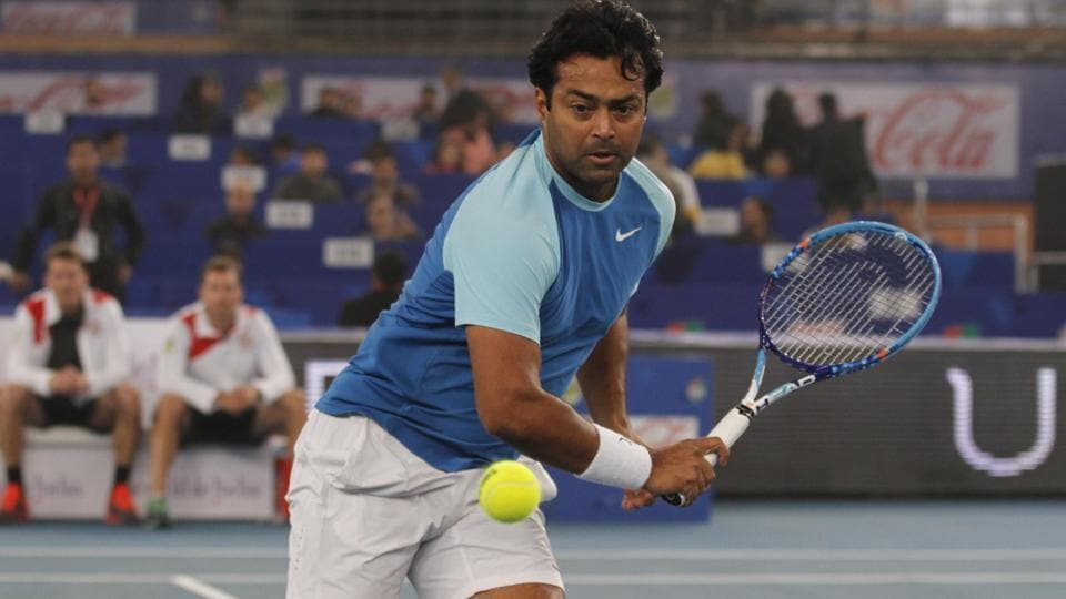 File photo of Leander Paes. (Photo by Virendra Singh Gosain/ Hindustan Times)