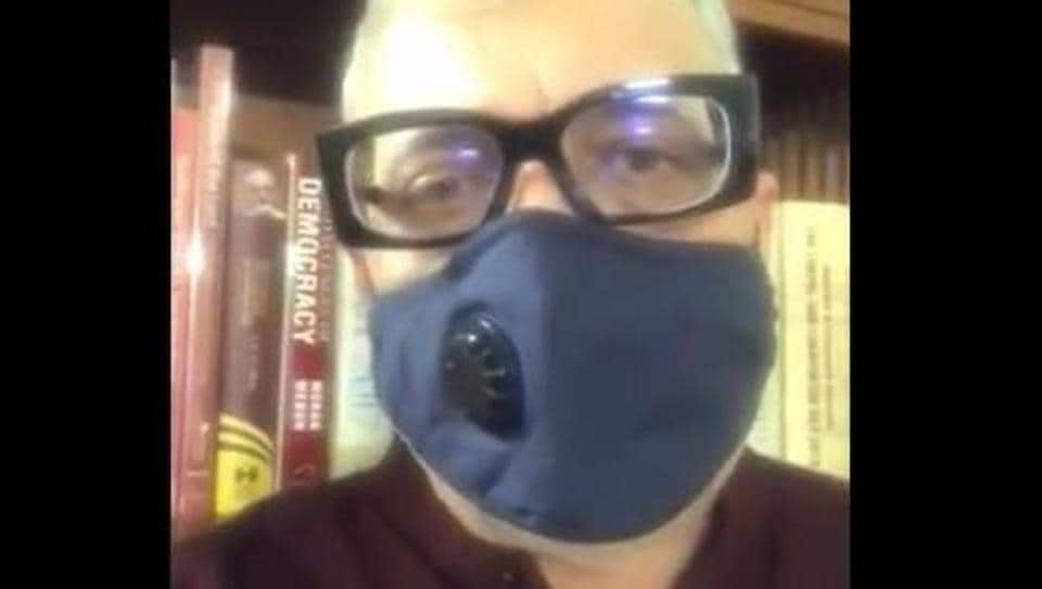 TMCMPtweeted a video of him wearing mask while announcing his self-isolation