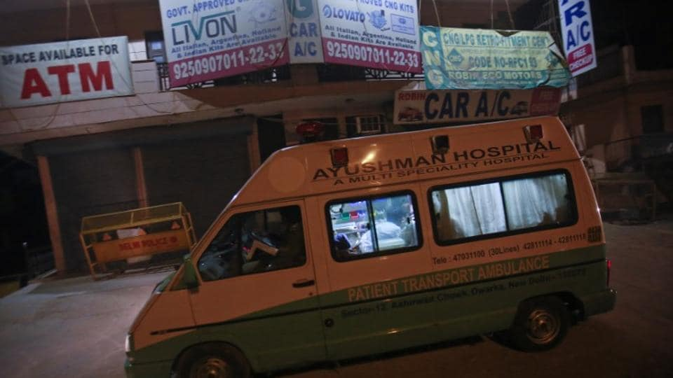 A hospital ambulance transports the body of a rape victim for cremation after it arrived from Singapore, in New Delhi December 30, 2012. The four convicts have been hanged on Friday morning.