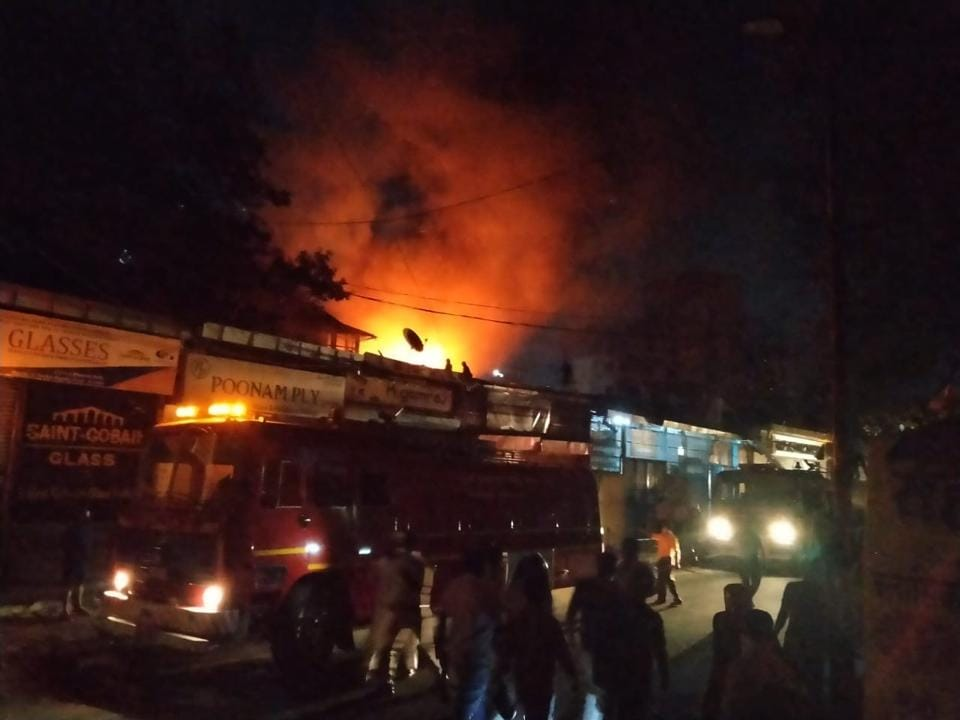 The locals helped the fire officials rescue three women who were initially trapped in the houses