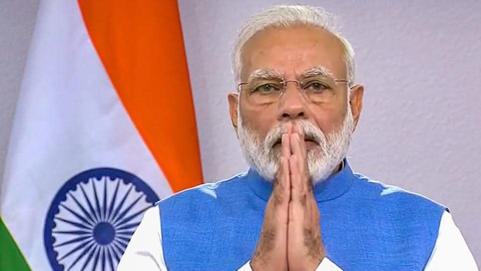 Prime Minister Narendra Modi during his address to the nation on coronavirus pandemic in New Delhi, on Thursday, March 19. During the address the PM called for a people's curfew (Janta Curfew) on Sunday, as a symbol of India's determination and a test of future preparedness. (PTI)