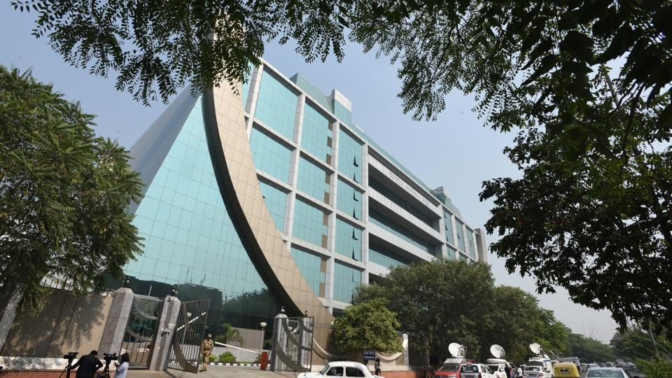 An outside view of CBI headquarters in New Delhi.