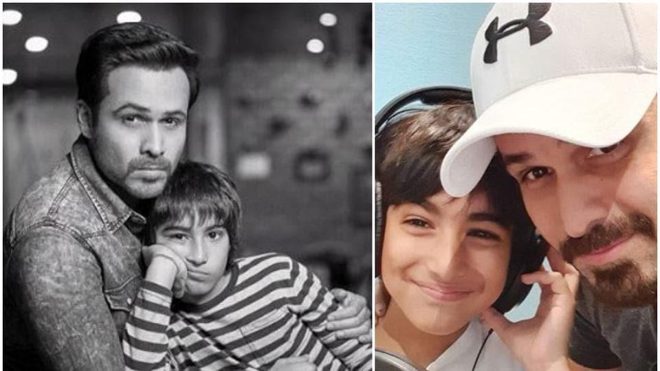 Emraan Hashmi with his son Ayaan.