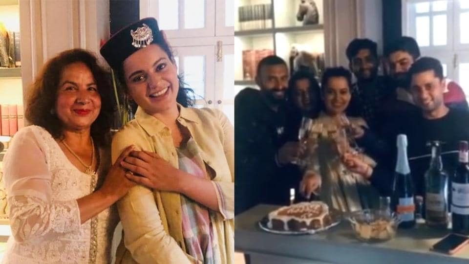 Kangana Ranaut celebrated her 33rd birthday with family and friends.