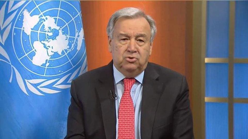 """Guterres on Monday called for an immediate """"global ceasefire in all corners of the world"""" in the wake of the coronavirus outbreak."""