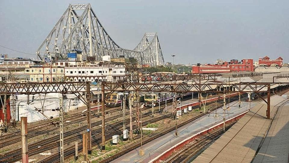 Howrah station wore a deserted look on the first day of lockdown imposed by the West Bengal government on Monday to curb the spread of coronavirus.