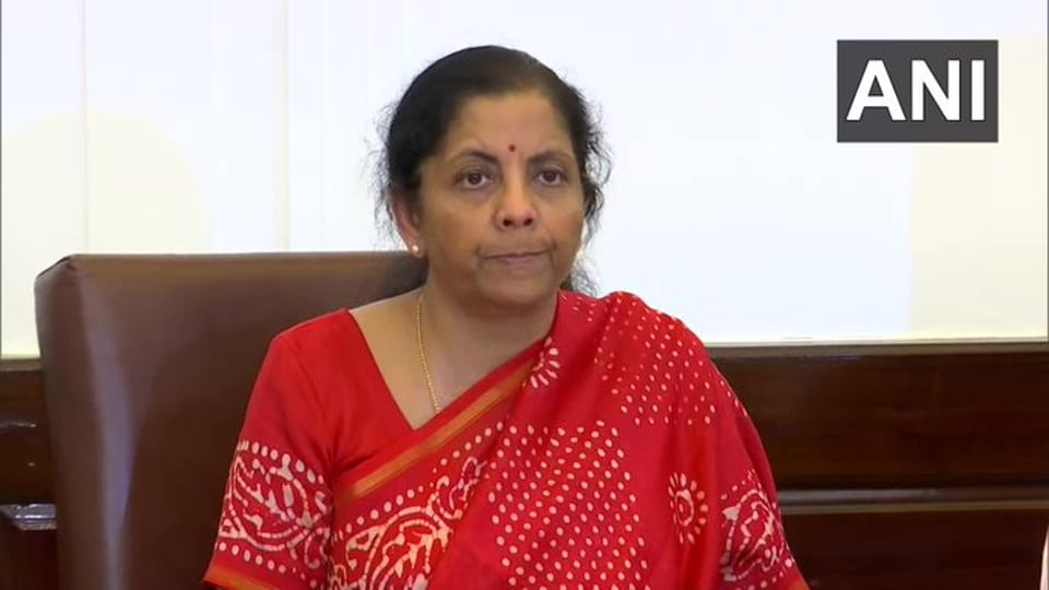 Union Finance Minister Nirmala Sitharaman at a