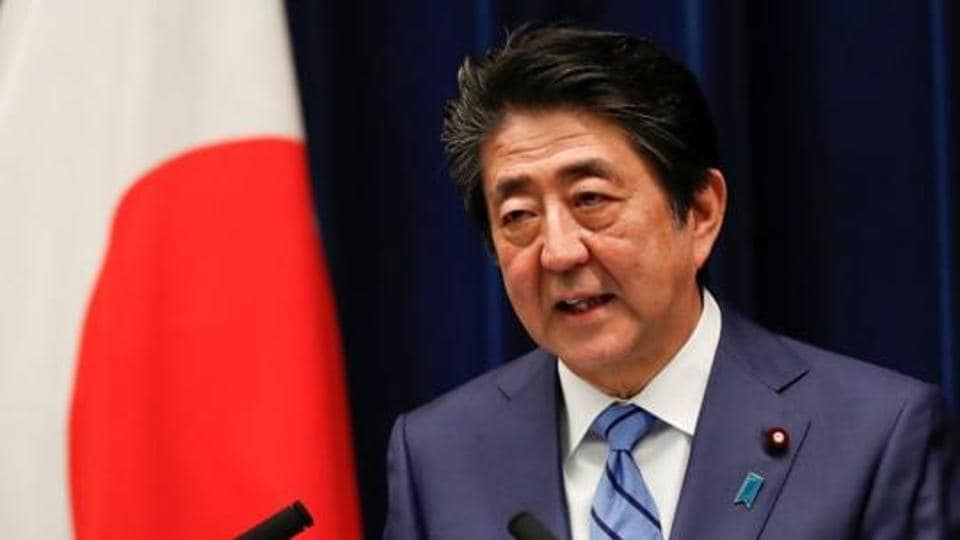 Japan's Prime Minister Shinzo Abe speaks during a news conference on Japan's response to the coronavirus outbreak at his official residence in Tokyo, Japan.