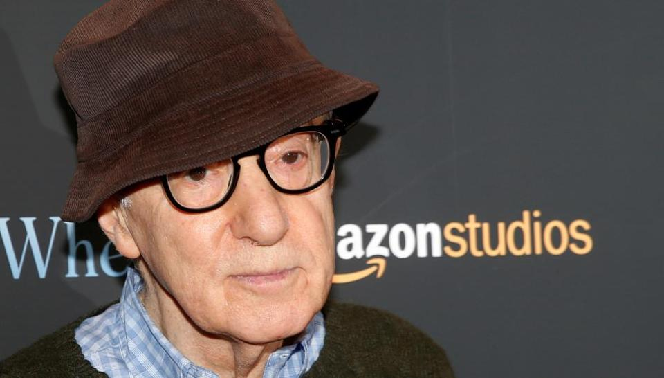 Director Woody Allen arrives for a screening of the film Wonder Wheel in New York.
