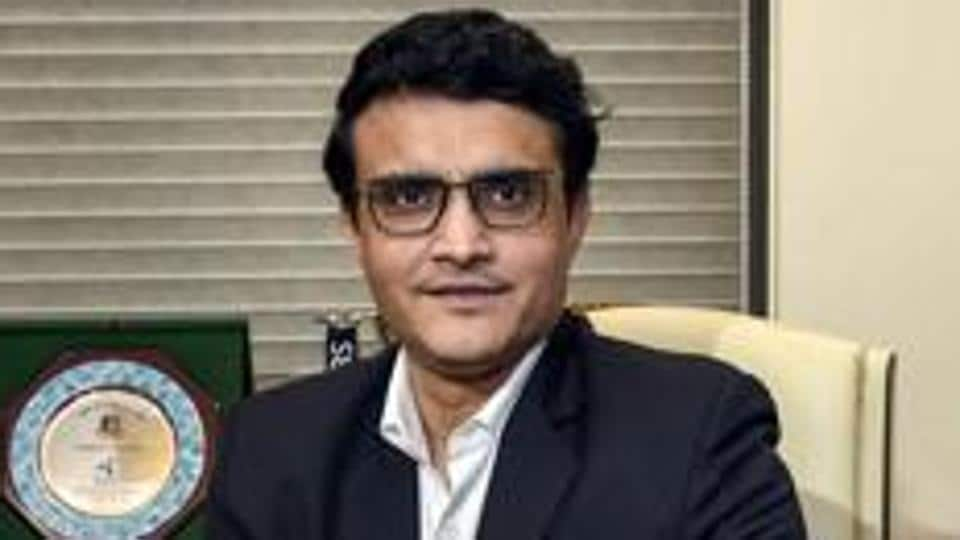 Sourav Ganguly poses for a photograph after taking charge as the new BCCI President.