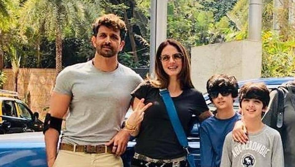 Hrithik Roshan and Sussanne Khan continue to remain on friendly terms even after their divorce.