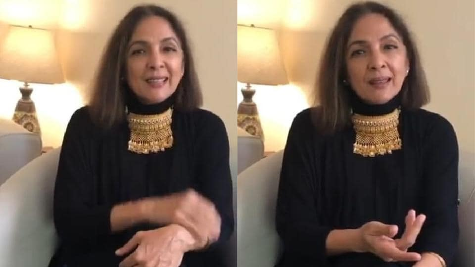 Neena Gupta shows off her new necklace on Instagram.
