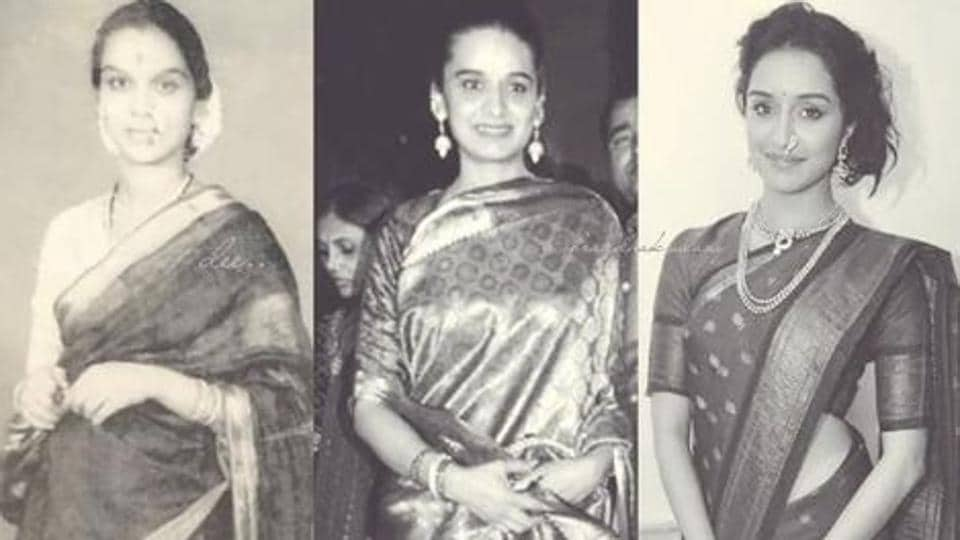 Shraddha Kapoor looks so much like her mother and grandmother.