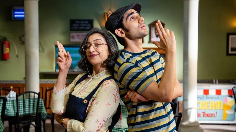 Maska movie review: Manisha Koirala and Prit Kamani in a still from the new Netflix film.