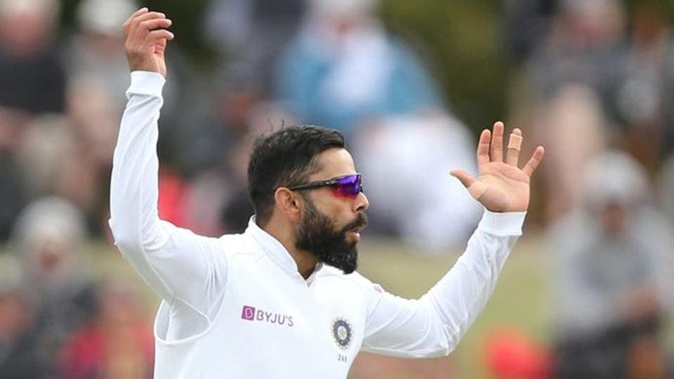 India's Virat Kohli appeals for a wicket.