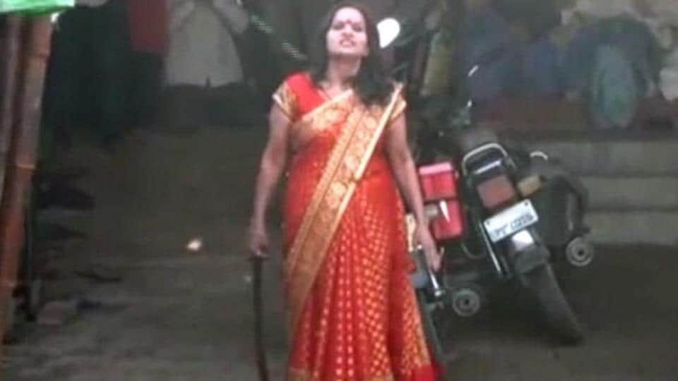 Self-styled godwoman, Maa Adi Shakti. (Video grab)