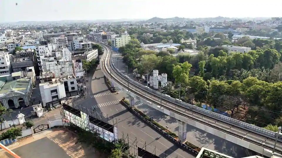 Hyderabad wears a deserted look onWednesday due to nationwide lockdown to check the spread of coronavirus disease Covid-19