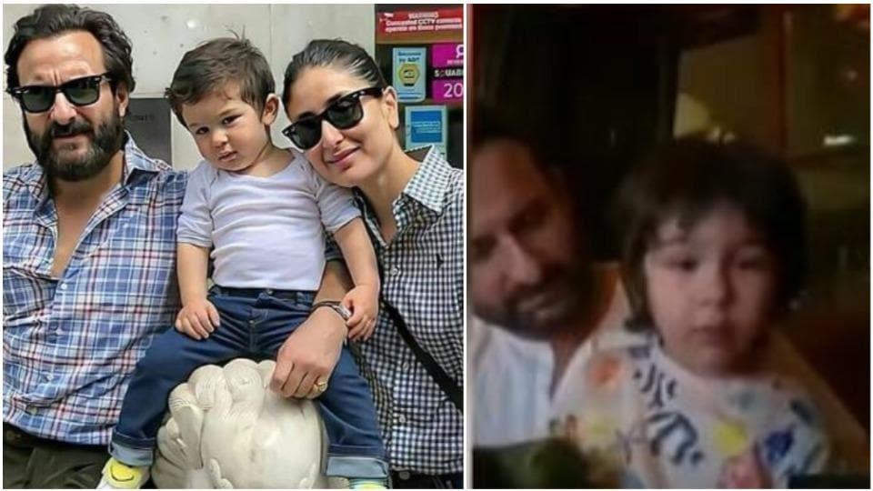 Saif Ali Khan's interview was hijacked by his cute son Taimur.