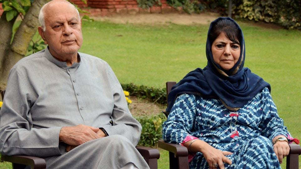 Farooq Abdullah (left) was released on March 13 while Mehbooba Mufti (right) remains under detention.